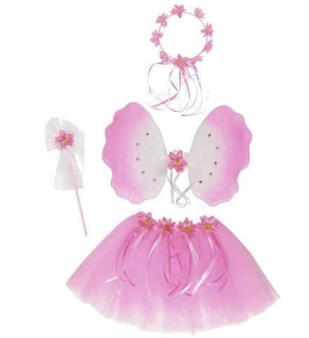 Dětský karnevalový kostým - Motýlí víla růžová použité  9cb263ee004