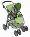 Sportovní polohovací kočárek pro panenky - zelený nové zboží