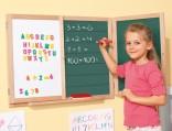 Dětská tabule dřevěná, magnetická zavírací - oboustranná NOVINKA skladem