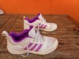 Dívčí boty ADIDAS bílo - fialové vel. 37 1/3 použité