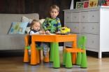 Dětský stolek a 2 židličky 3 v 1 - plast Nové zboží