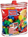 Mega Bloks - kostky v plastovém pytli, 70 dílů použité