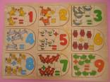 Dřevěné puzzle - počítání použité