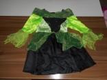 Karnevalový kostým - čarodějnické šaty 5 - 6 let použité