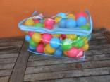Plastové míčky v tašce - 80 ks použité