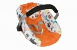 Autosedačka - nosítko pro panenky oranžová, nové zboží