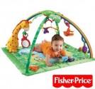 FISHER PRICE hrací deka Rainforest se zvířátky a hrazdičkou NOVA
