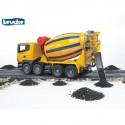 BRUDER 03554-SCANIA míchačka betonu (domichávač)