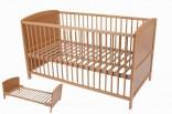Dětská dřevěná postýlka 140 x 70 cm - přenastavitelná na postel NOVINKA