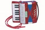 Dětská harmonika tahací- akkordeon - dřevěná nové