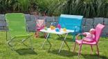Dětská kvalitní lavička ALU - textil - zahradní