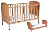 Dětská postýlka - postel 140 x 70 cm 2 v 1