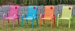 Dětská židlička - křesílko ALU - textil zahradní