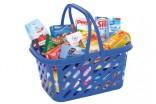 Potraviny pro dětský obchod - kuchyňku - nákupní košík modrý NOVINKA