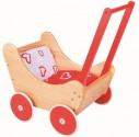 Dřevěný kočárek pro panenky s doplňky NOVINKA