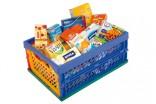Potraviny pro dětský obchod - kuchyňku - nákupní přepravka Nové zboží