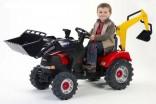 Šlapací traktor CASE s lžící a bagrem