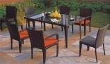 Zahradní sestava Ratan - stůl + 4 židle
